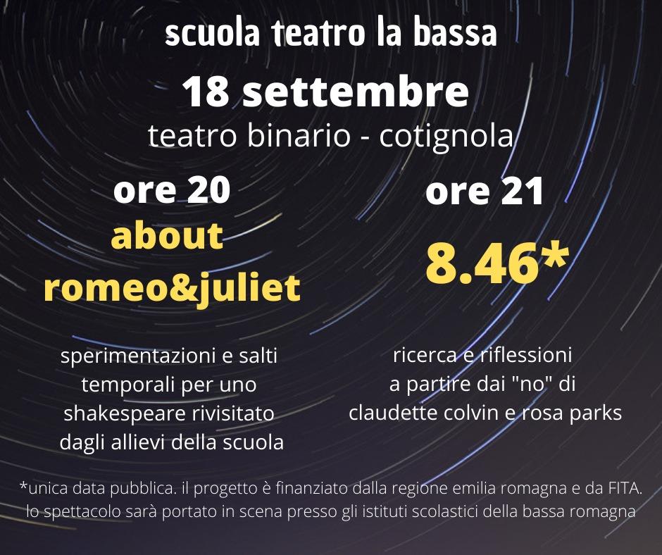 Scuola Teatro La Bassa post FB